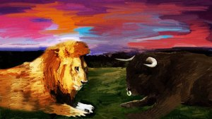 lion and bull 1